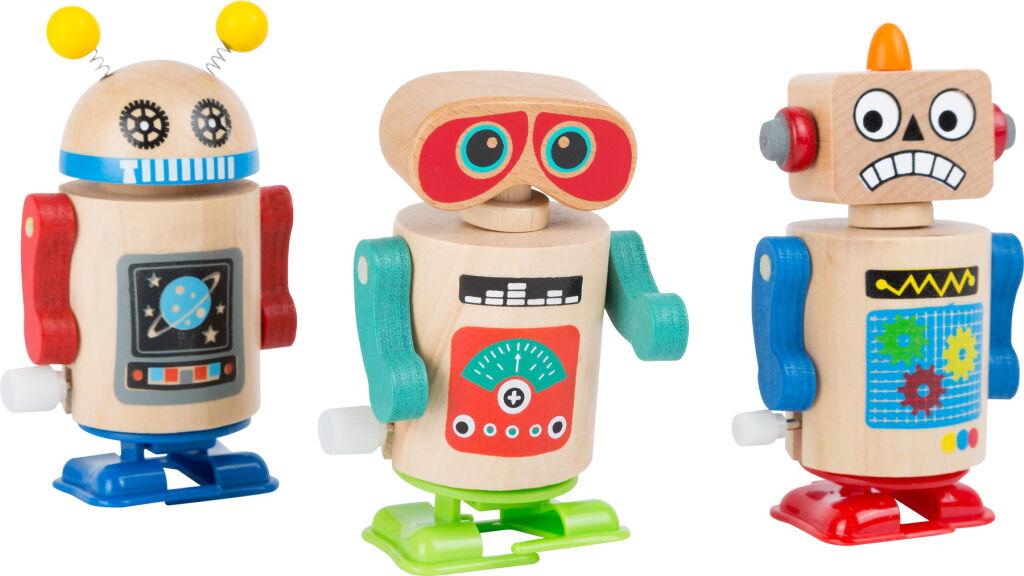 Small Foot Dřevěný natahovací robot 1ks červené nožičky