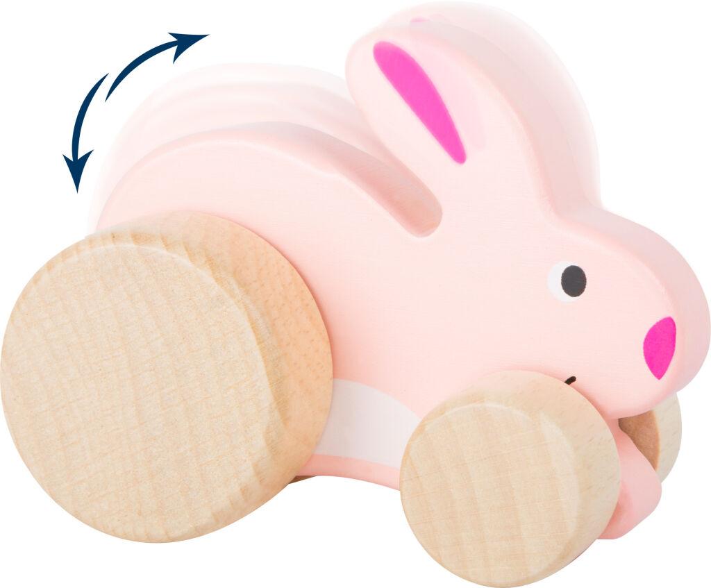 Small Foot Dřevěný zajíček na kolečkách