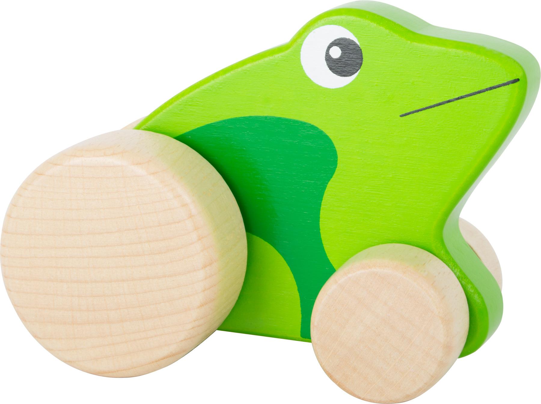 Small Foot Dřevěná žabka na kolečkách
