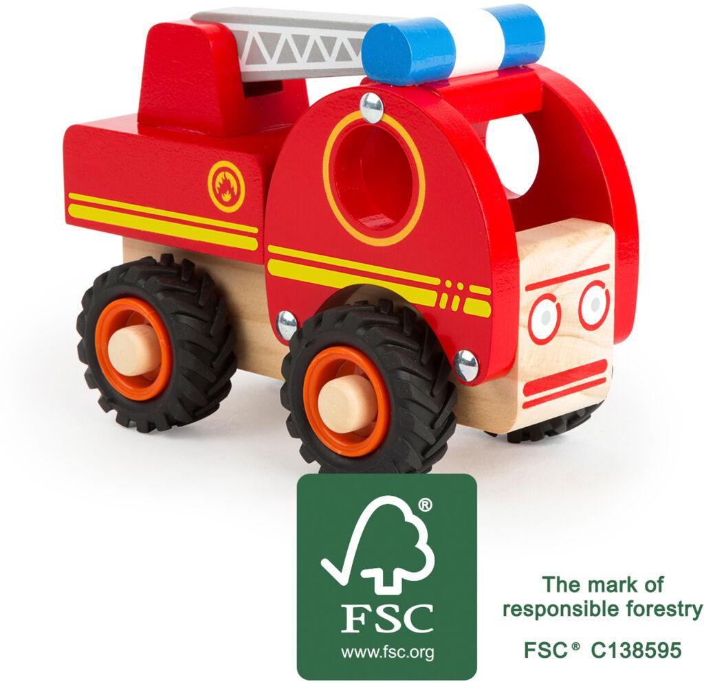 Small Foot Drevené hasičské auto s rebríkom