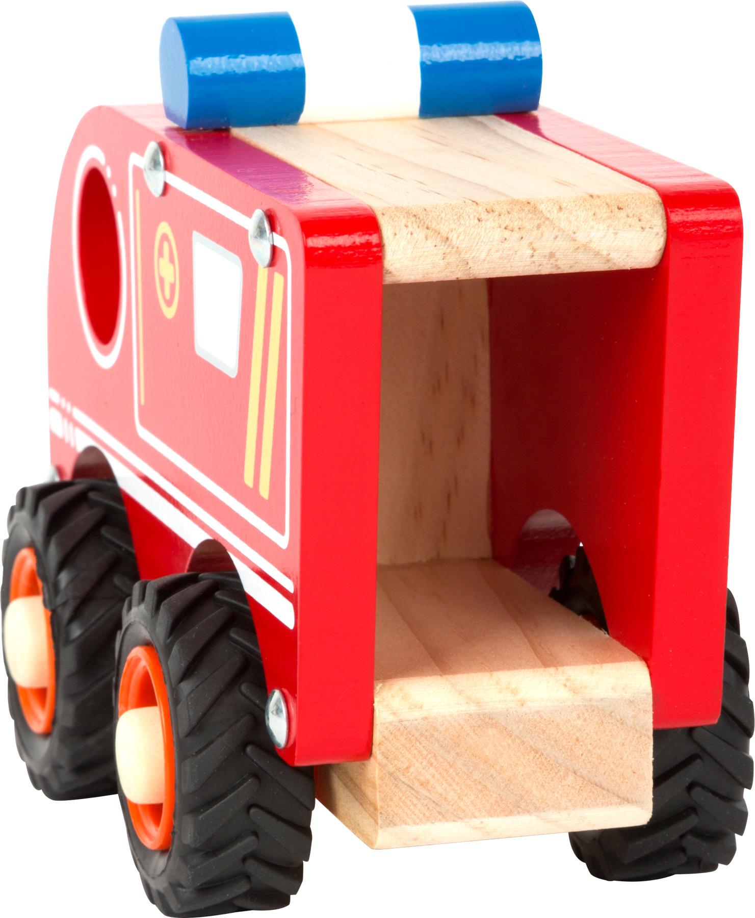 Small Foot Drevené auto Sanitka