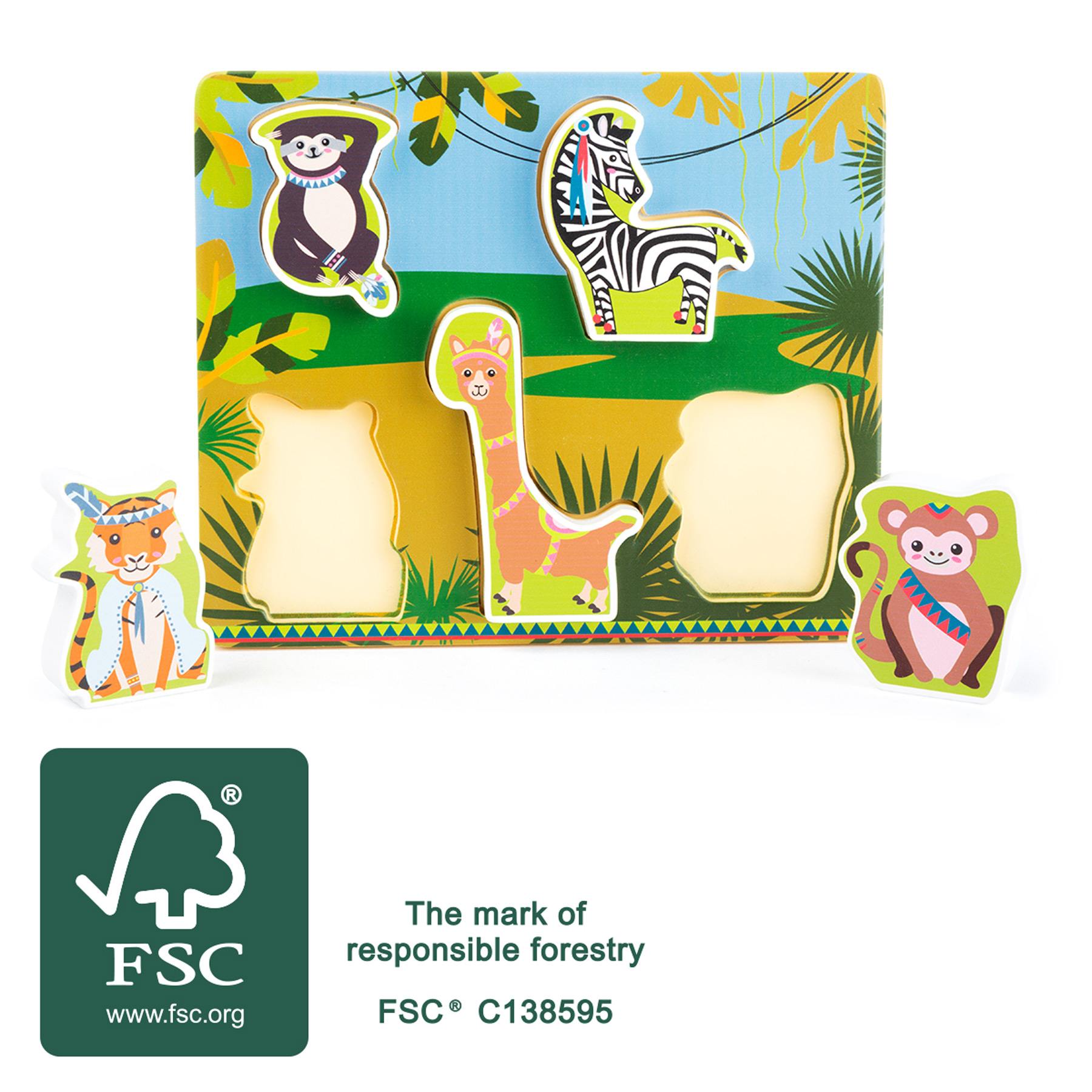 Small Foot Vkládací puzzle Jungle
