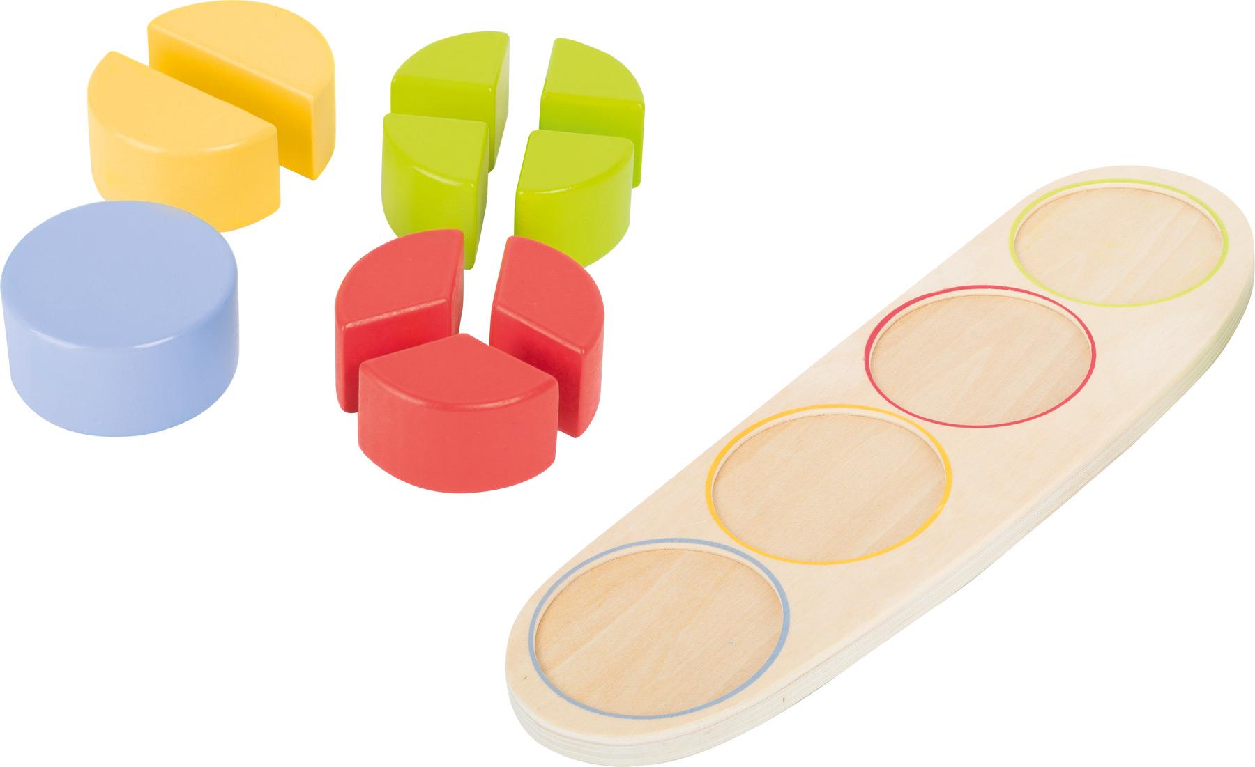 Small Foot Dřevěná edukativní tabulka zlomky