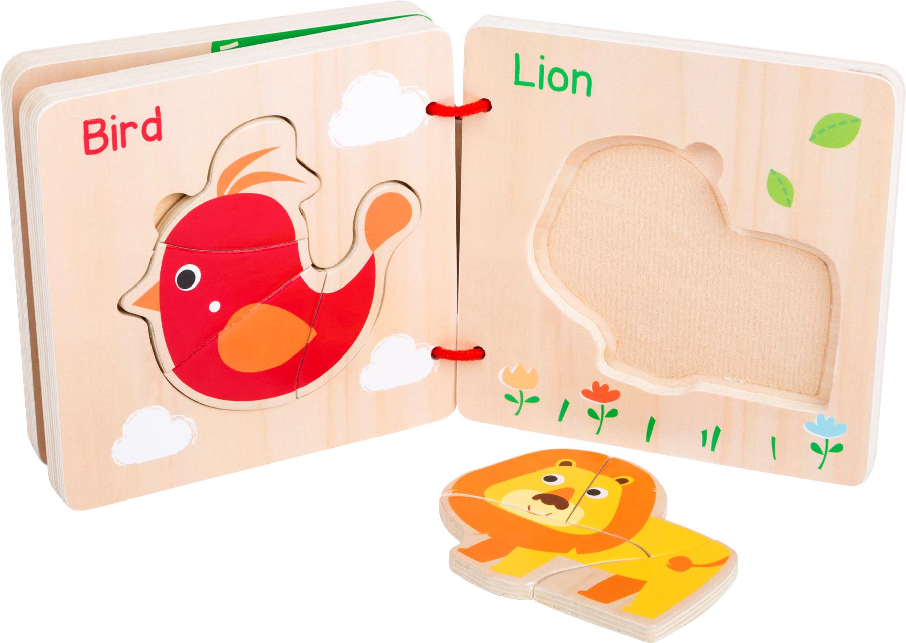 Small Foot Dřevěná knížka zvířecí puzzle
