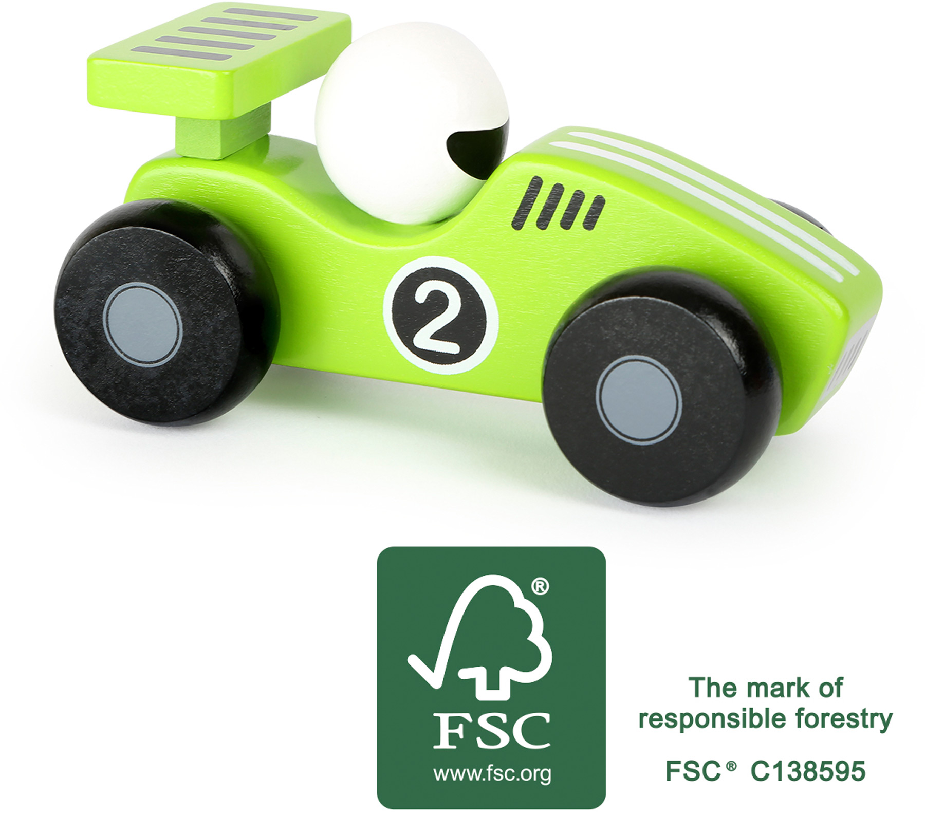 Small Foot Dřevěné auto Dasher zelené