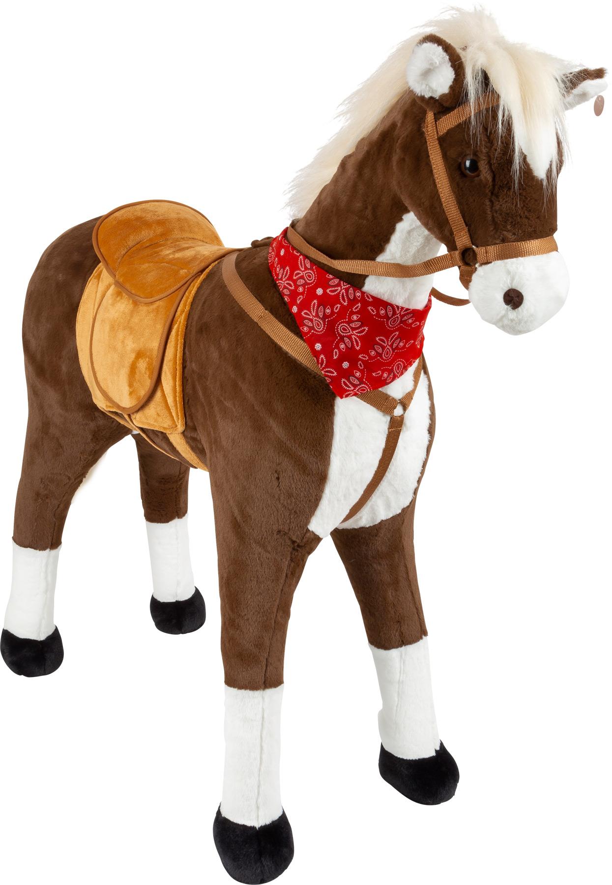 Small Foot Sedací kůň XL hnědý se zvukem