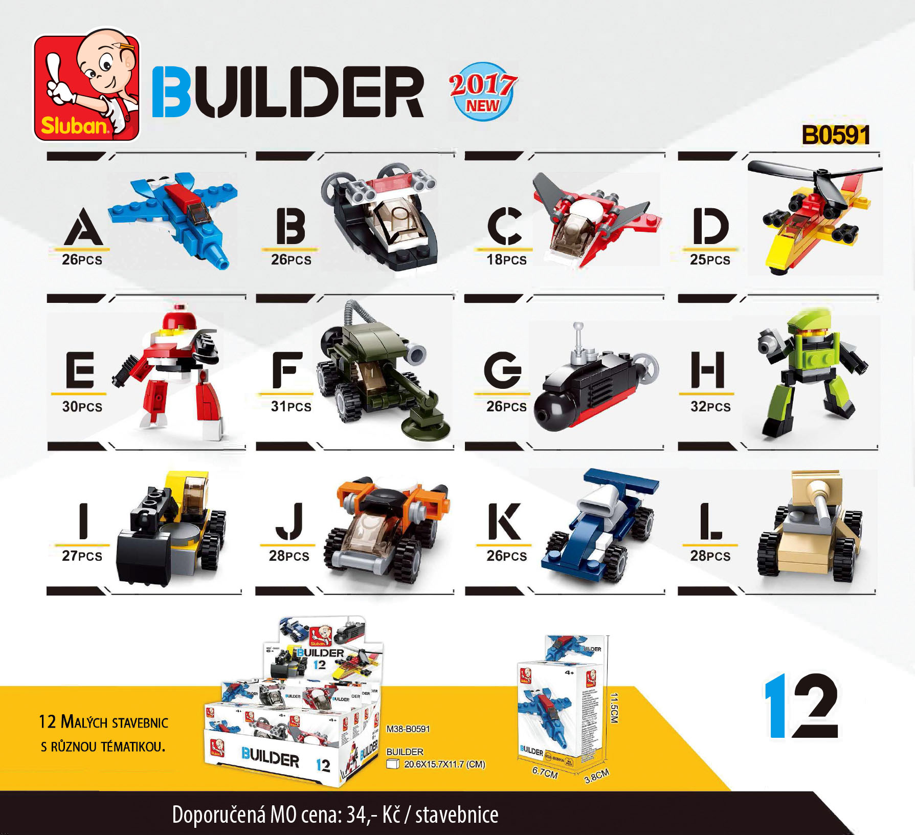 Sluban Builder M38-B05391 1ks F