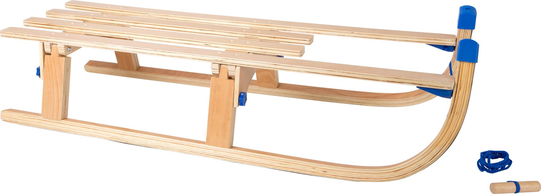 Small foot Dřevěné skládací sáně
