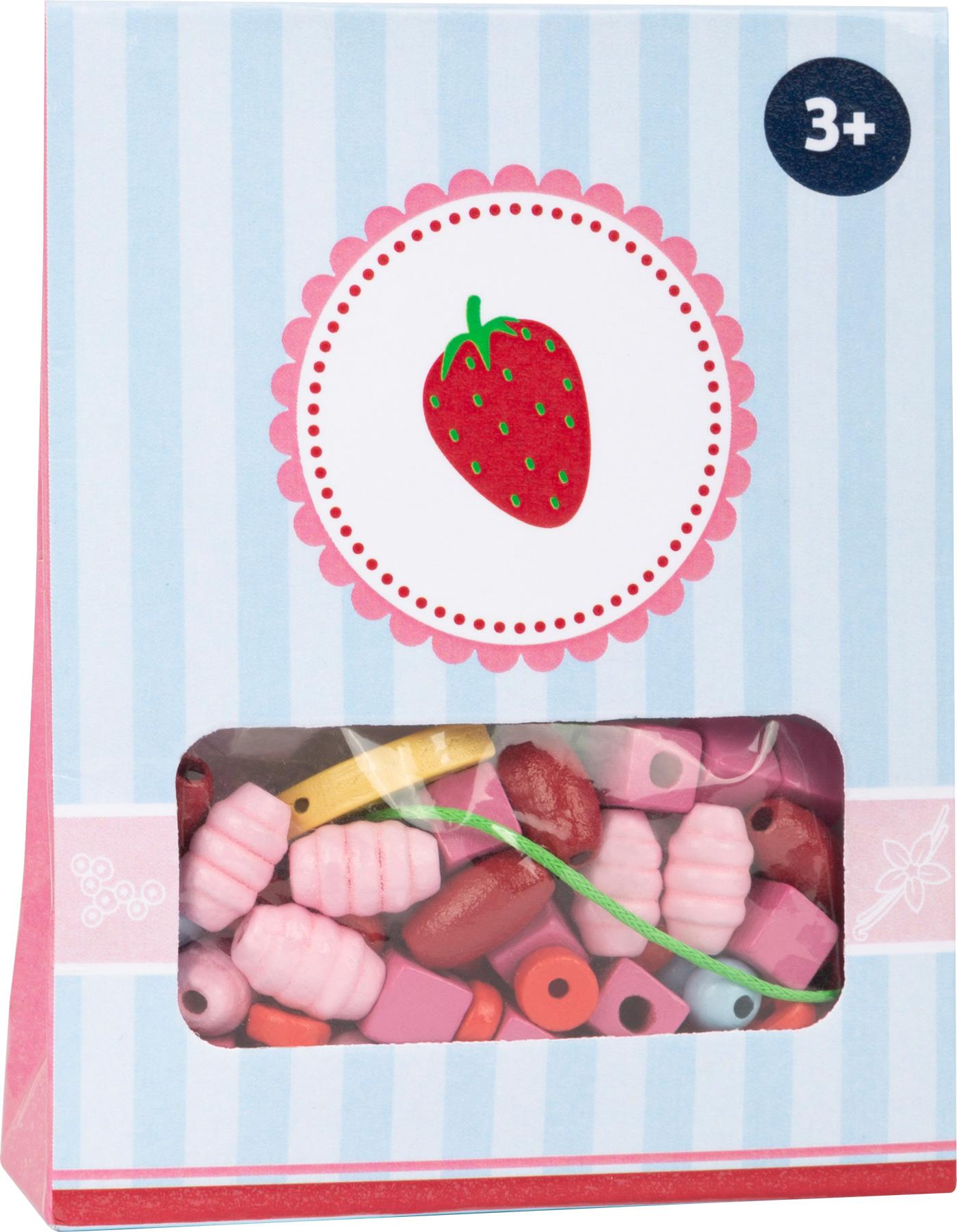 Small Foot Dřevěné korálky Candy 1ks červená