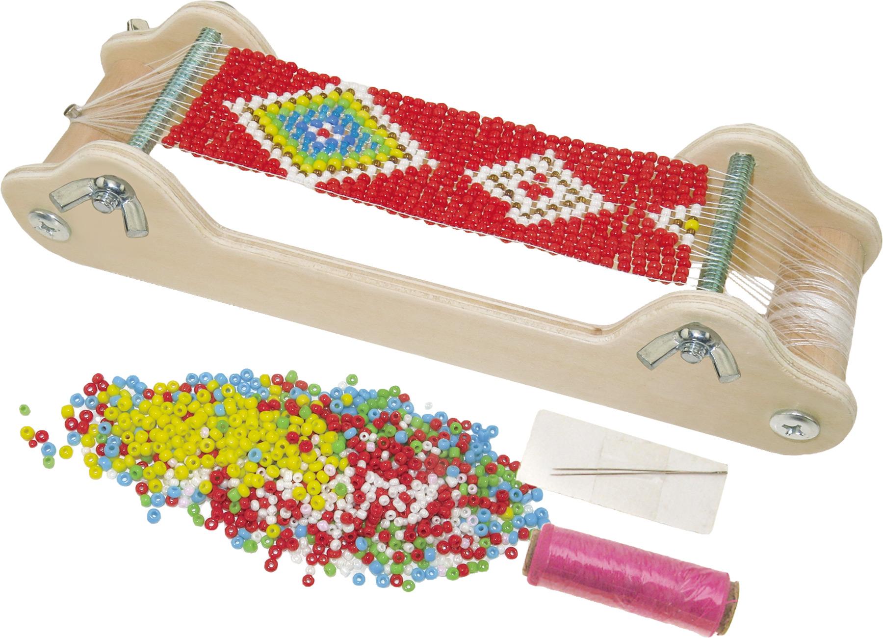 Small Foot Dřevěný perličkový tkalcovský stav