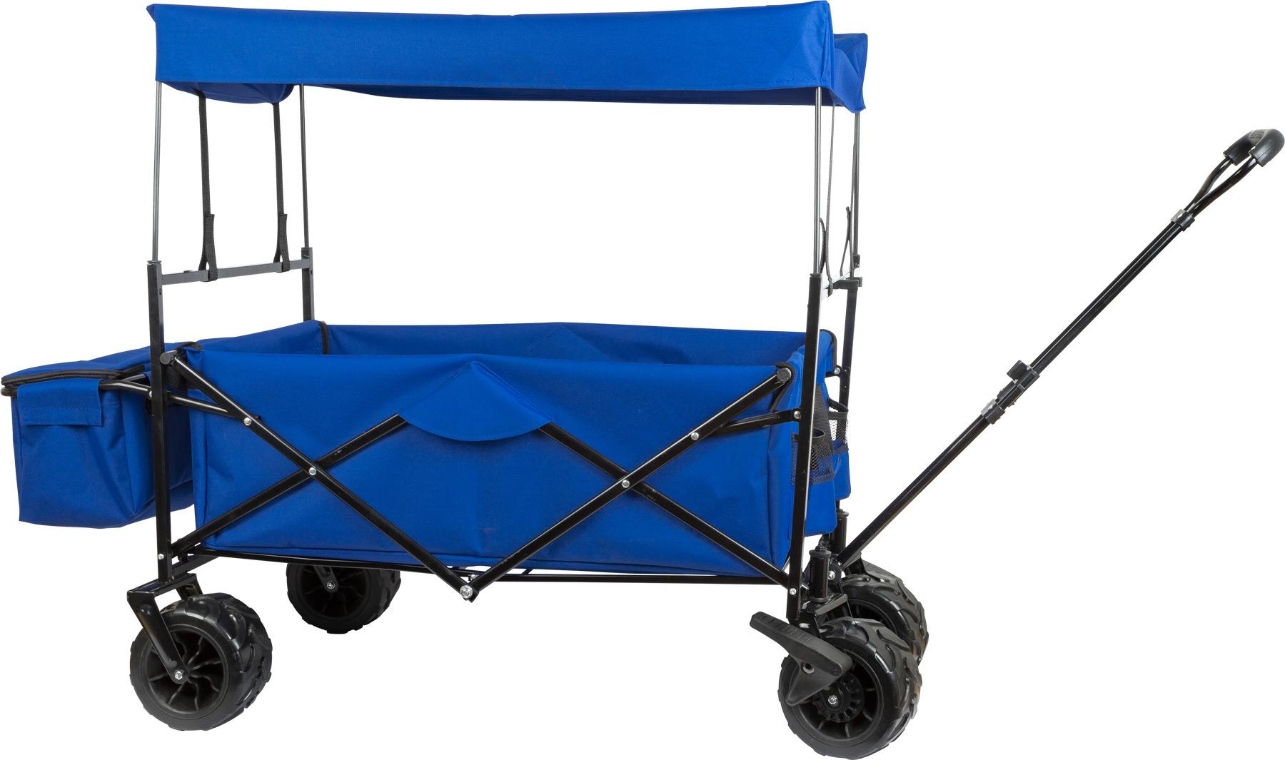 Small Foot Kovový skládací vozík s stříškou