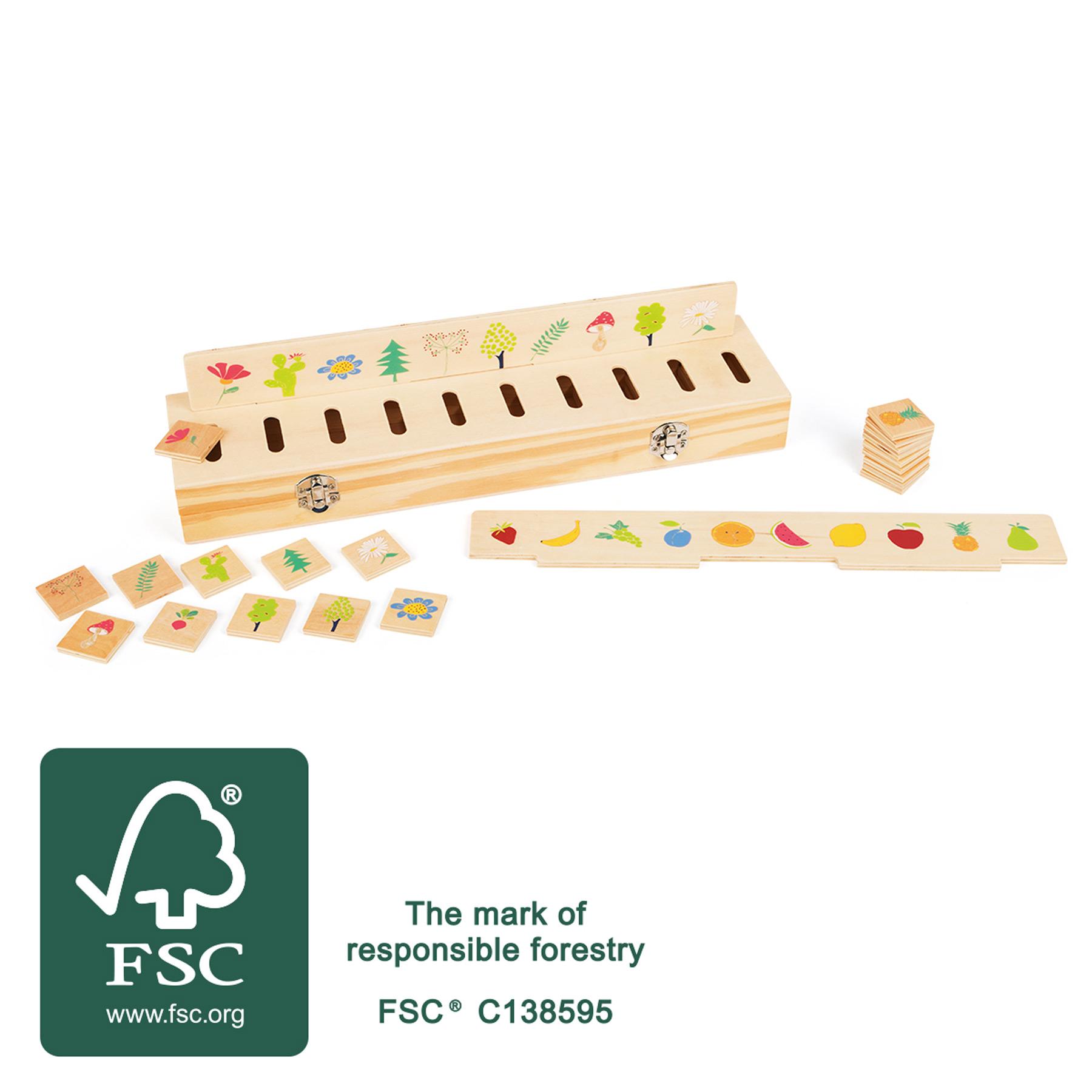 Small Foot Dřevěná motorická vkládačka vzdělávací třídění