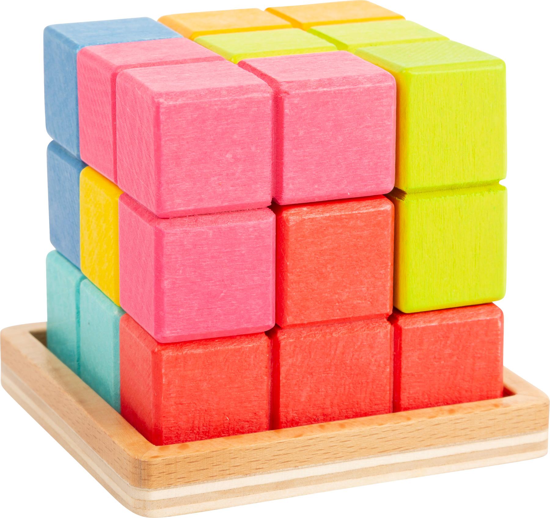 Small Foot Drevená kocka 3D Tetris