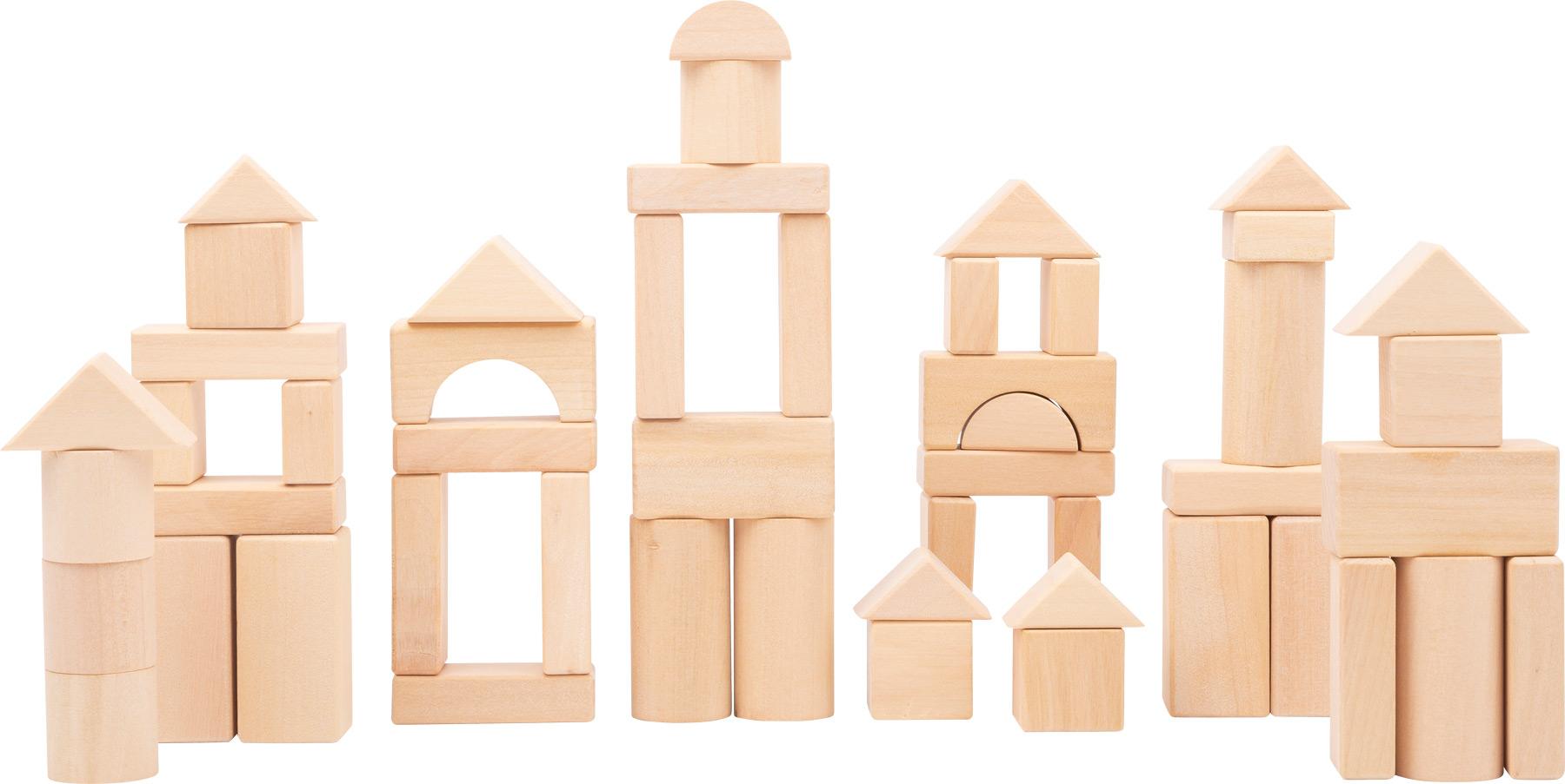 Small Foot Dřevěná stavebnice přírodní