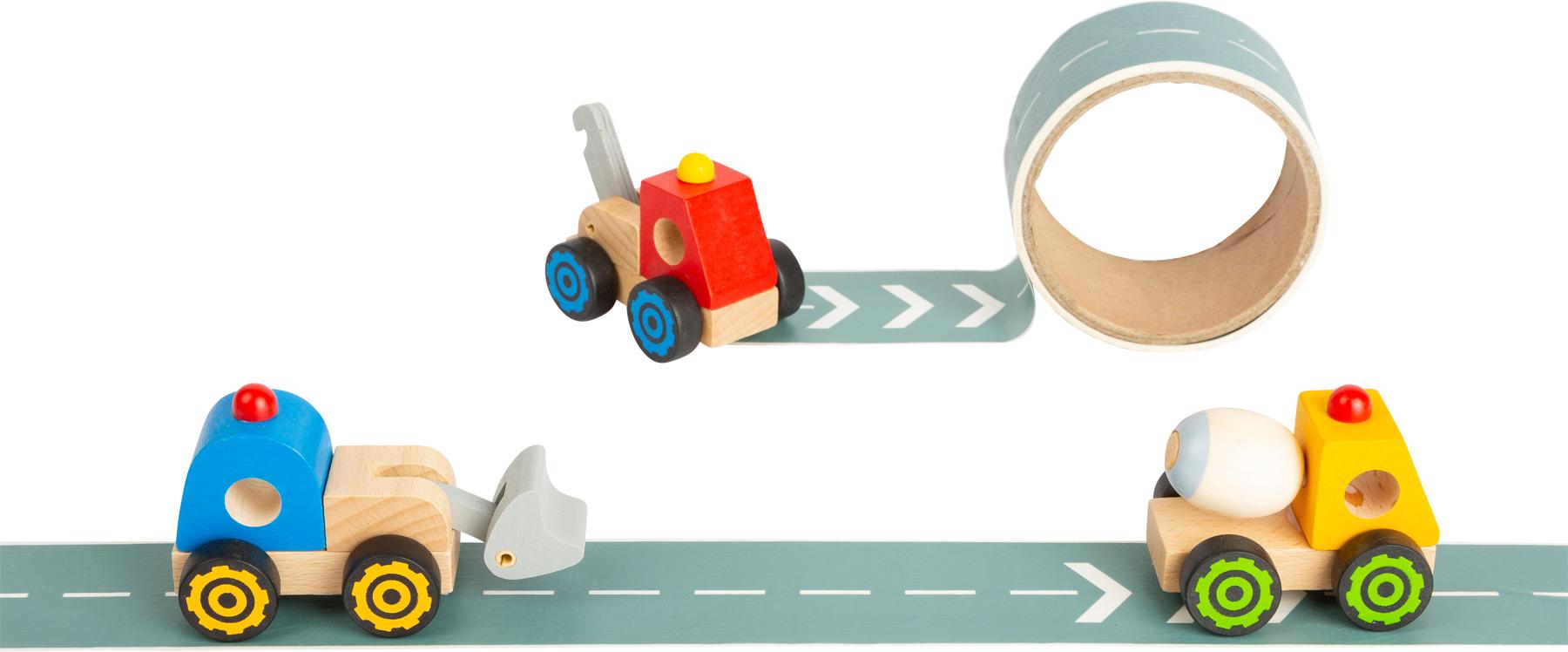 Small Foot Stavební stroj s cestou 1 ks