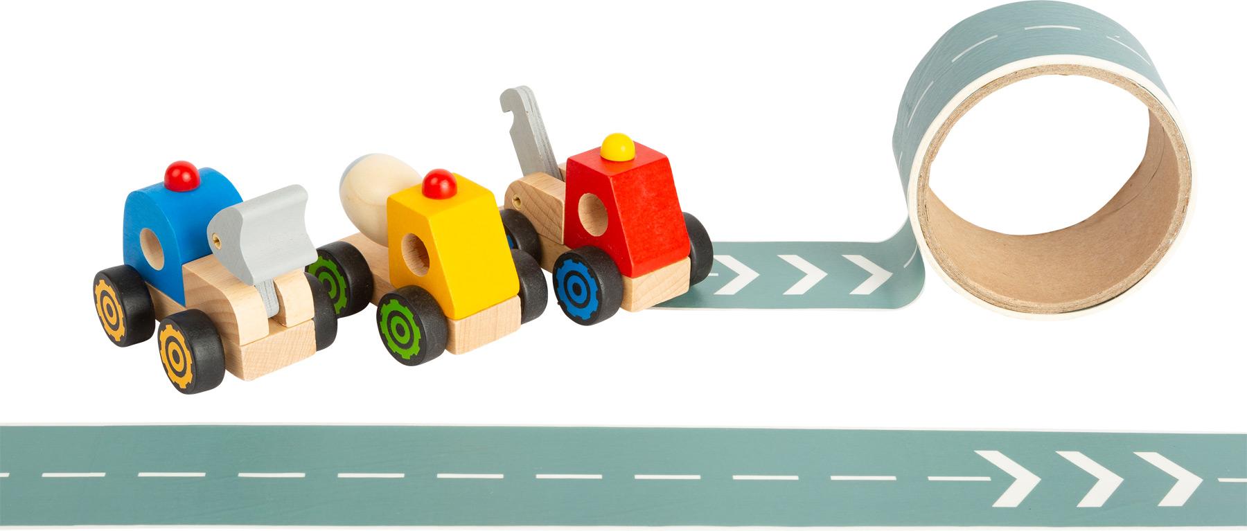 Small Foot Displej stavební stroj s cestou 12 ks