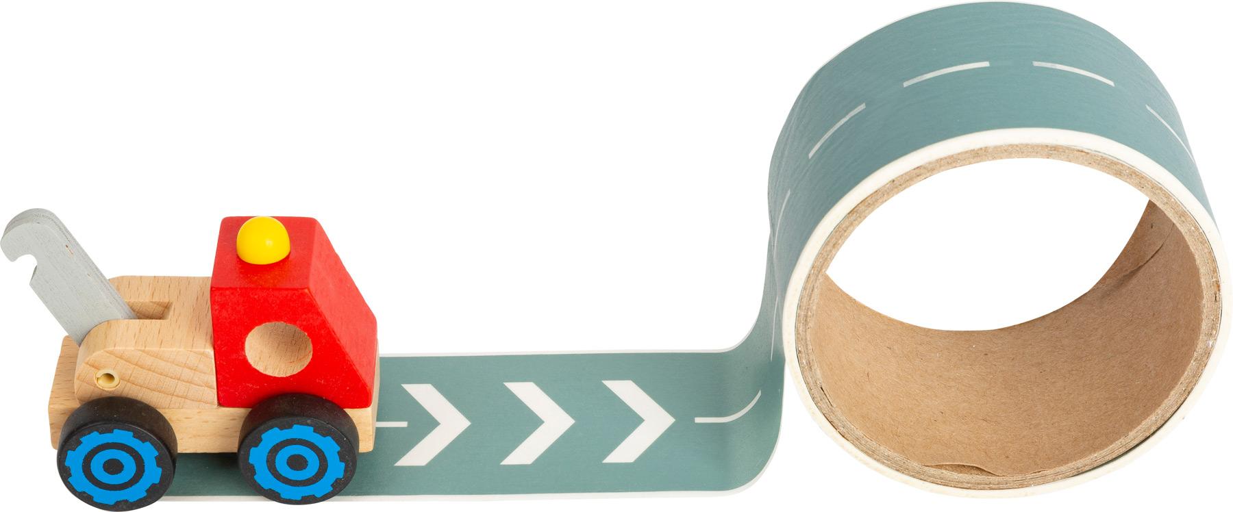 Small Foot Stavební stroj s cestou 1 ks červená