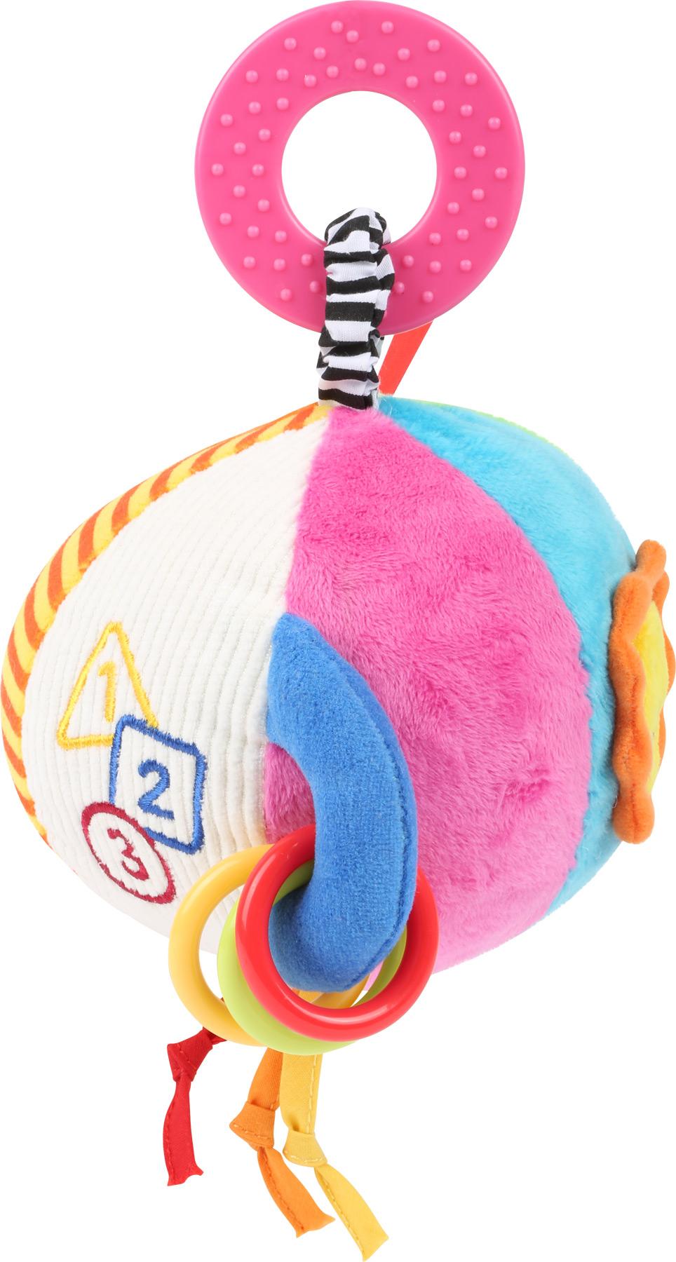 Small Foot Plyšové chrastítko balónek růžové