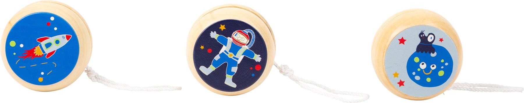 Small Foot Dřevěné jojo Space 1 ks bílá planeta