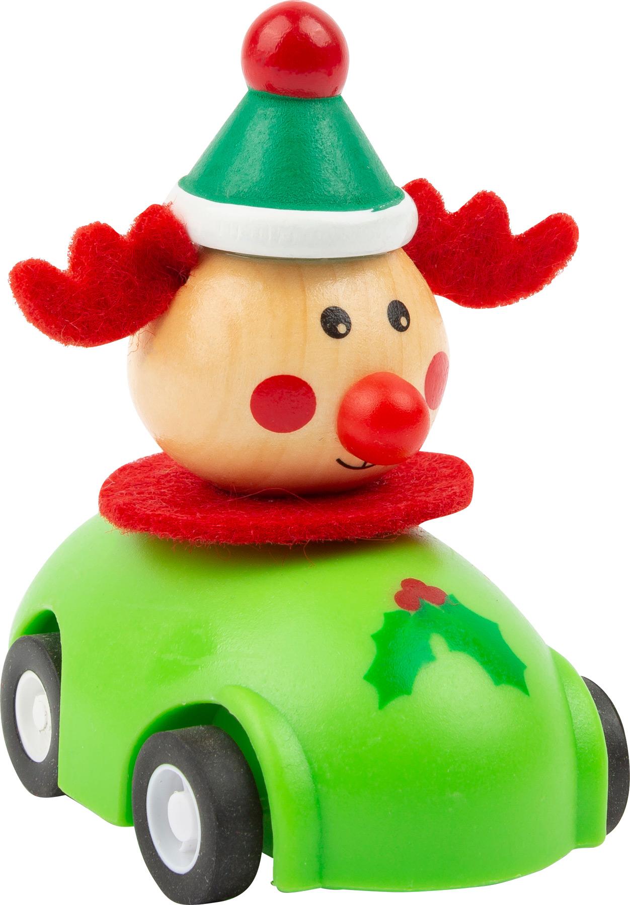Small Foot Vánoční autíčko 1 ks zelená