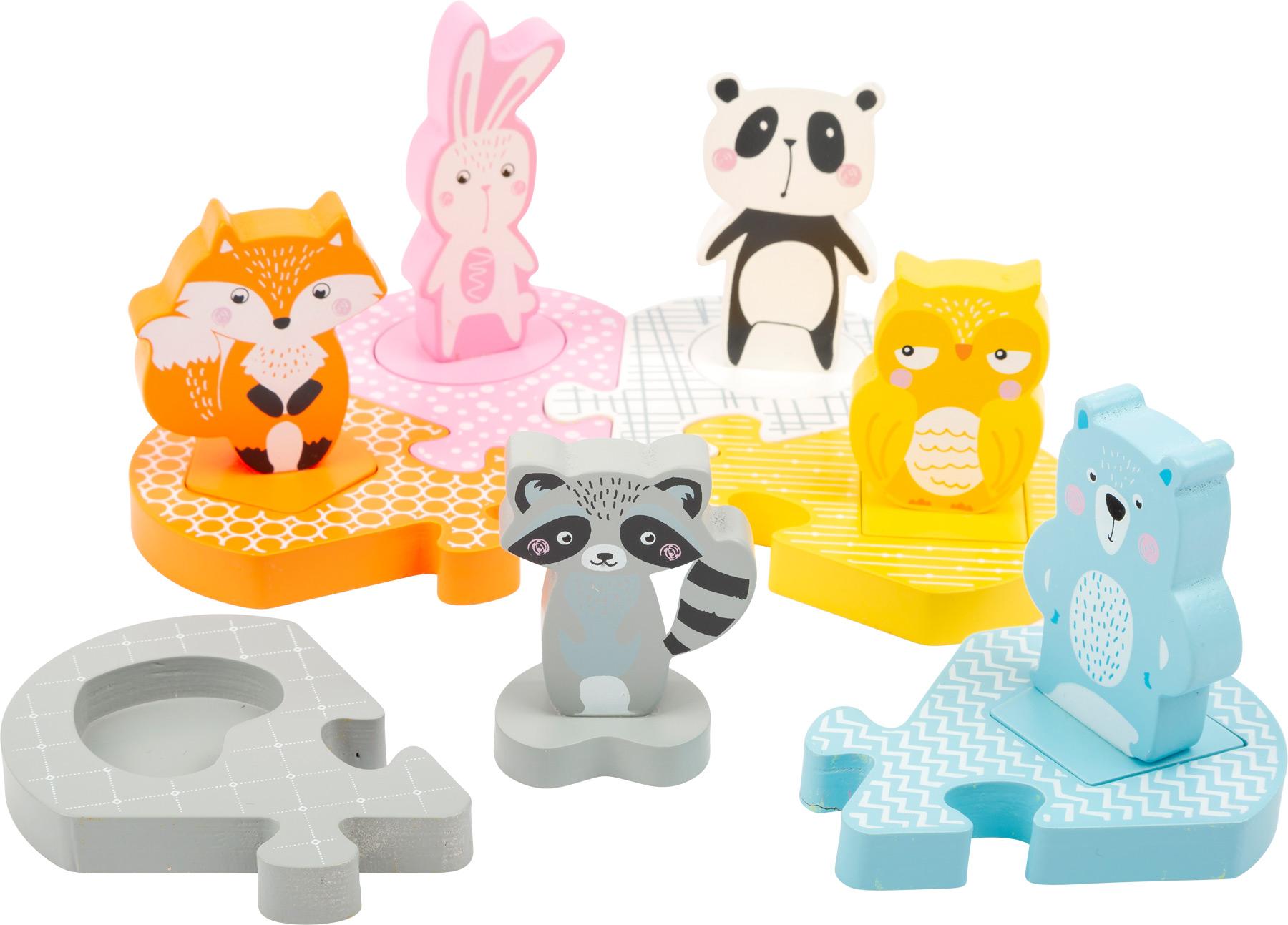 Small Foot Drevené vkladacie puzzle Zvieratká