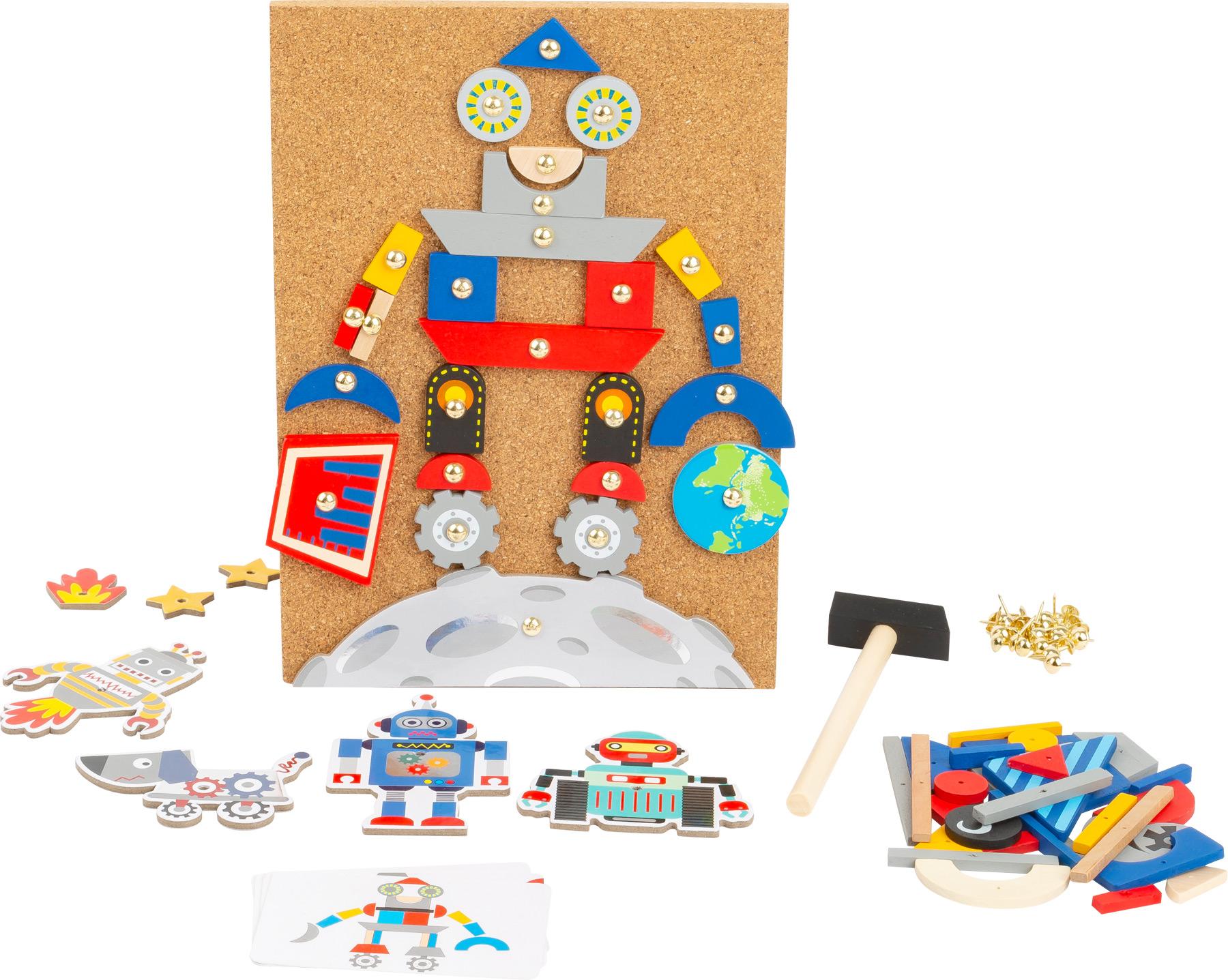 Small Foot Zatloukací hra Roboti