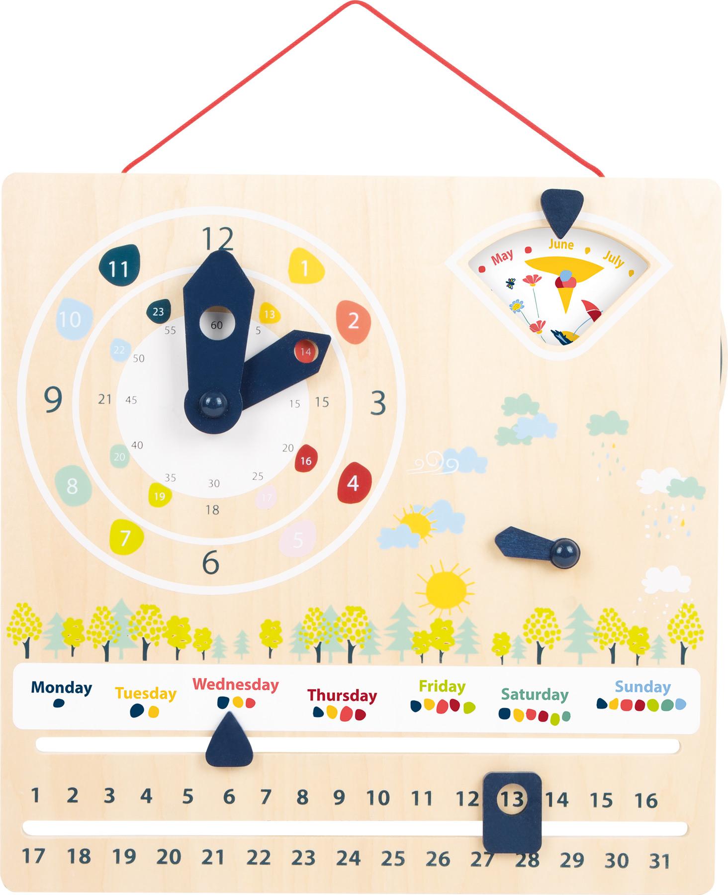Small Foot Didaktický kalendář s hodinami
