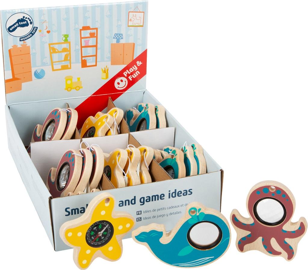 Small Foot Hračky pro malé dobrodruhy mořská zvířátka displej 18 ks