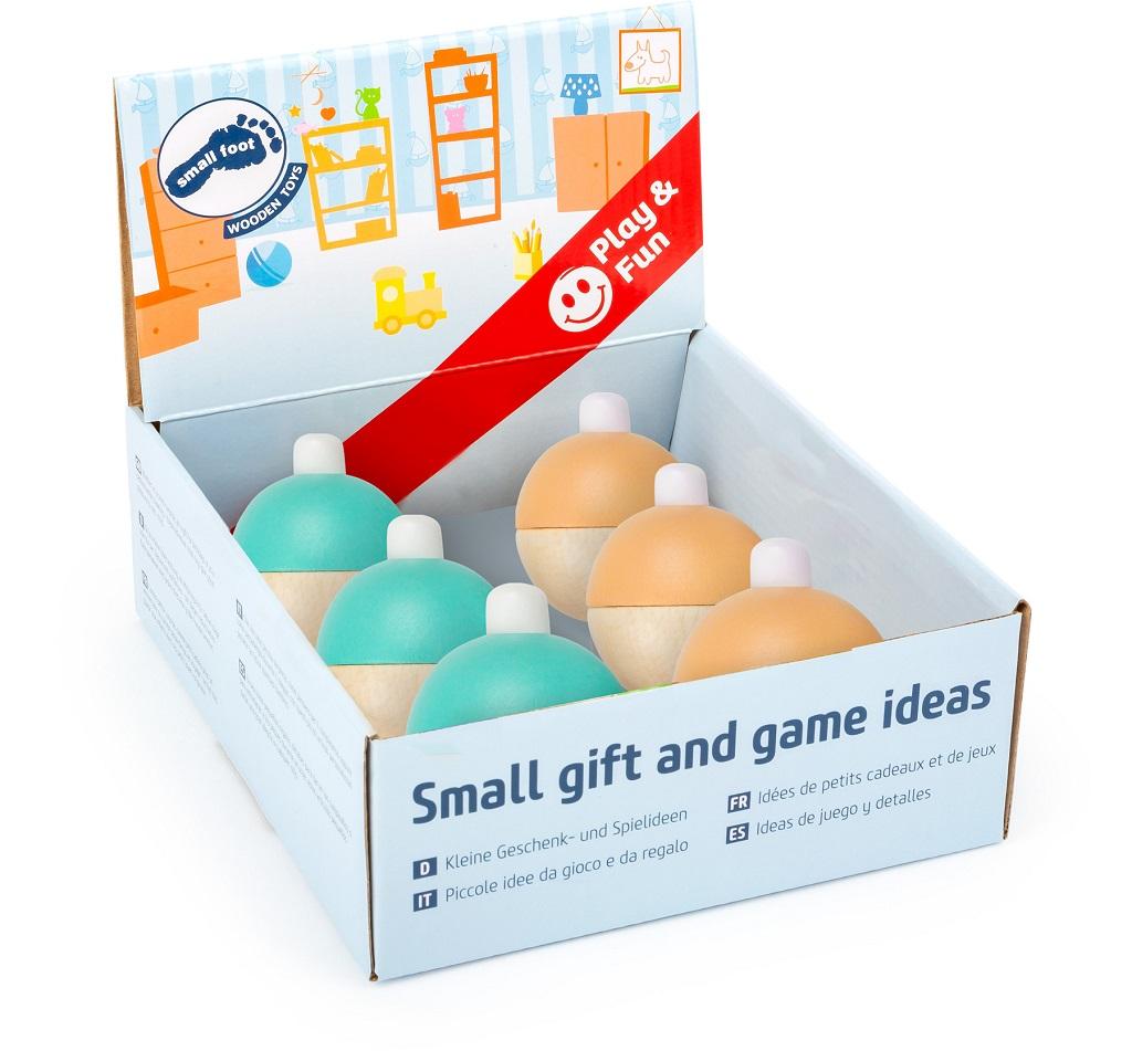 Small Foot Pískající pastelový míček displej 6 ks