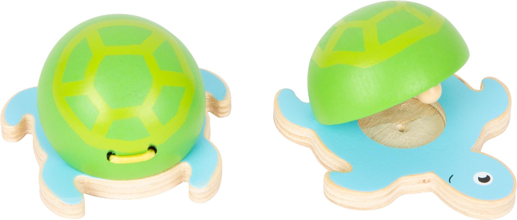 Small foot Kastaněty mořští živočichové modro-zelená želvička 1 ks
