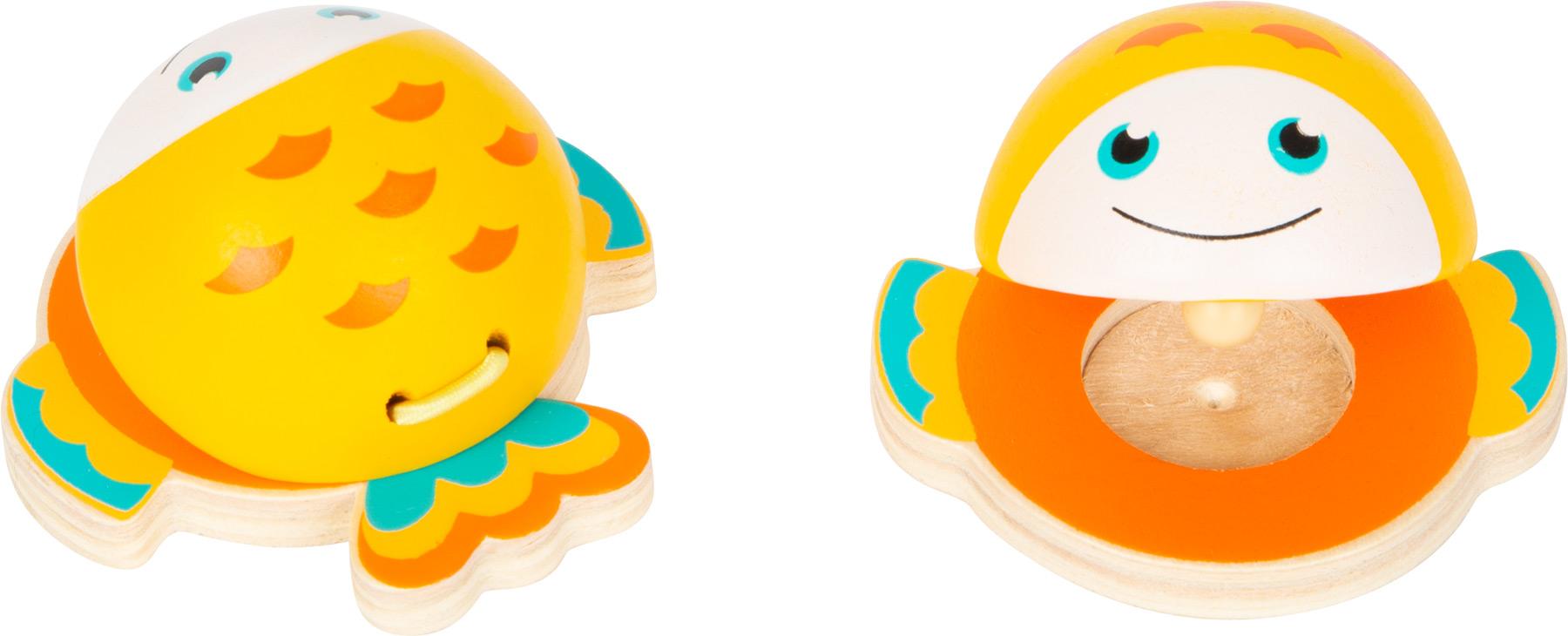 Small foot Kastaněty mořští živočichové oranžová rybička 1 ks