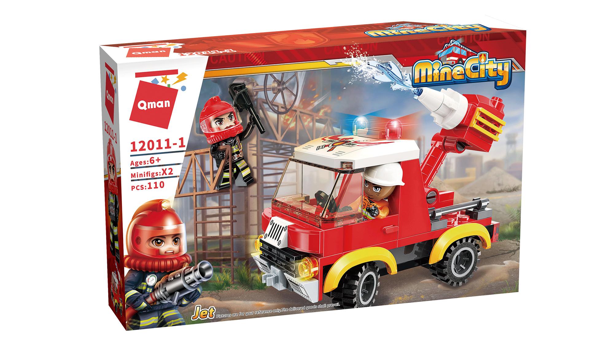 Qman Mine City Fire Line 12011-1 Lehký hasičský vůz