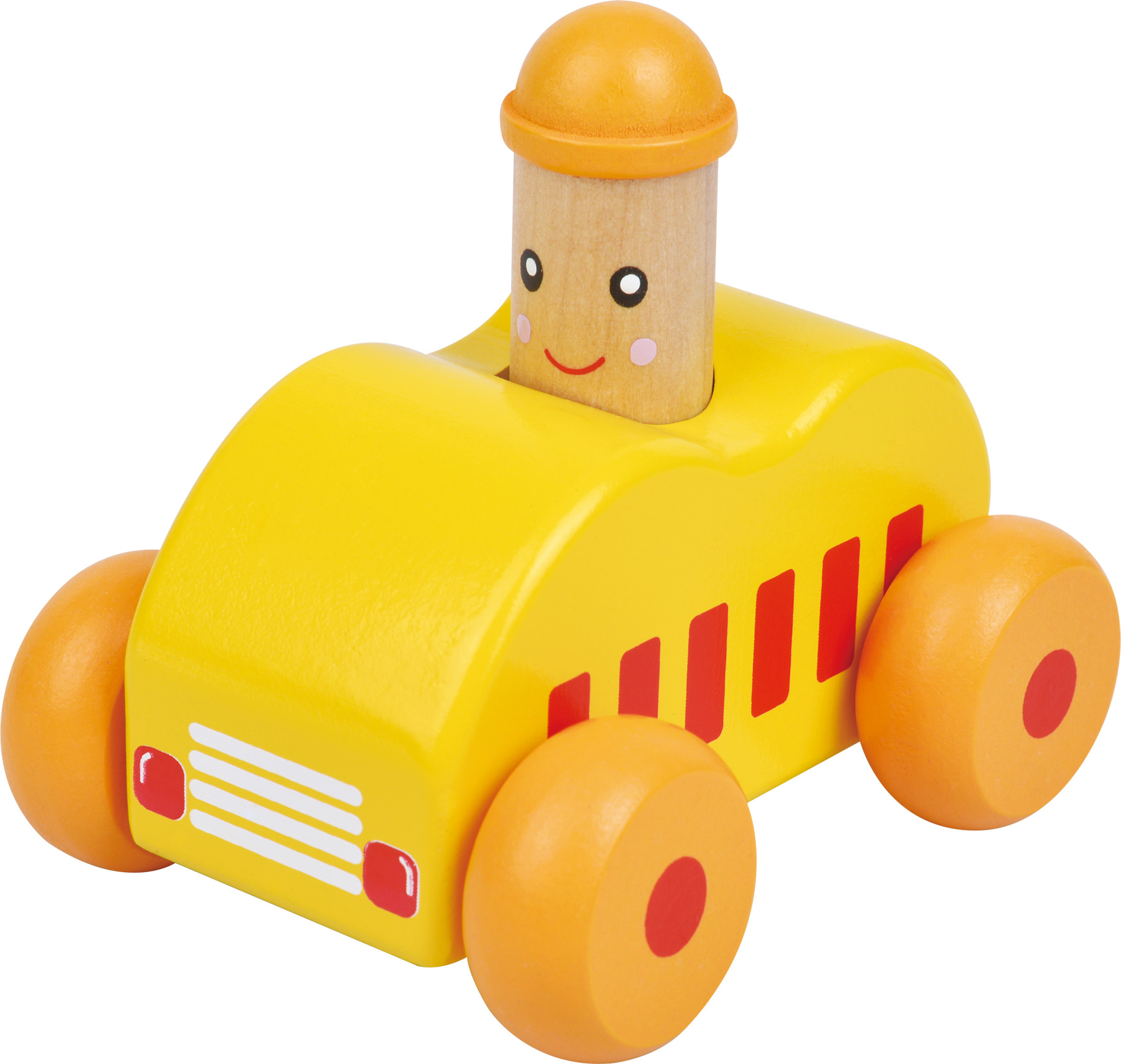 Small Foot Dřevěné autíčko 1ks žluté