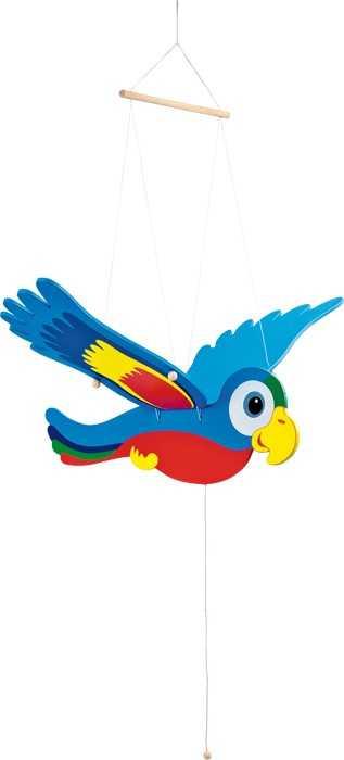Small Foot Dřevěné dekorace pohyblivý papoušek