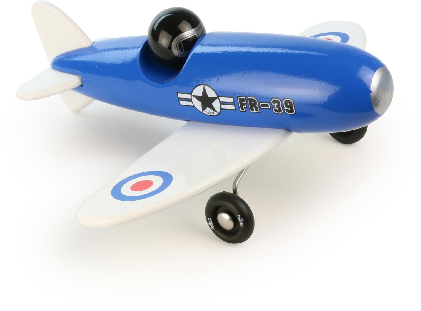 Vilac dřevěné letadlo - Avion modrý jednoplošník