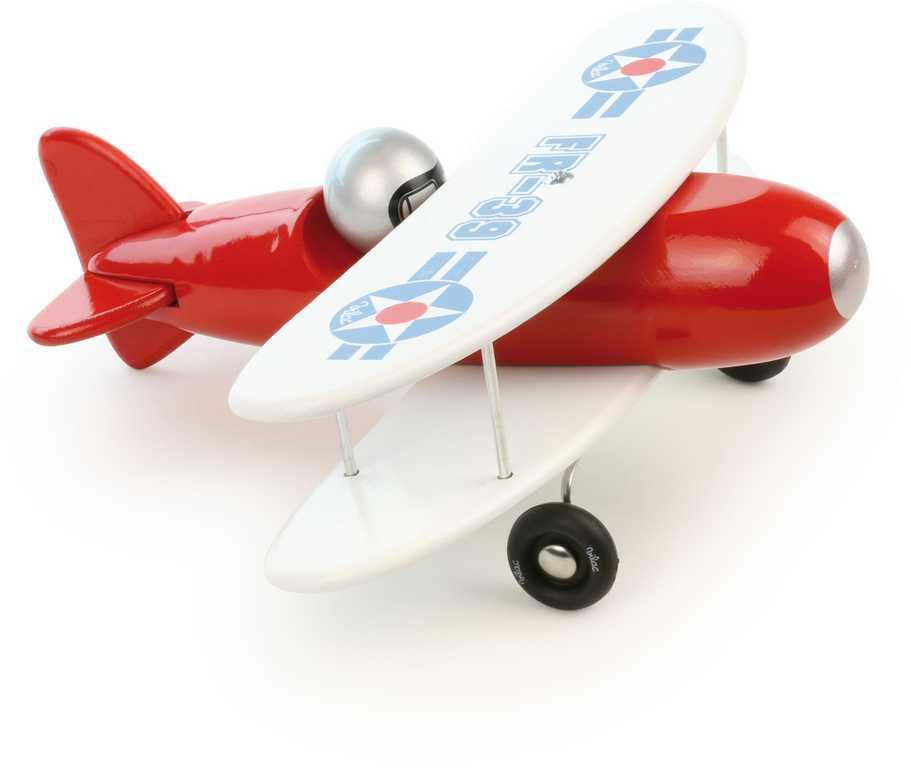 Vilac dřevěné letadlo červený dvouplošník