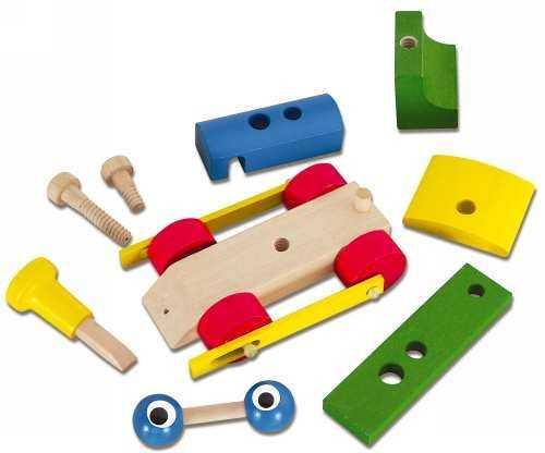 Dřevěné hračky - dřevěný vláček - Mrkací mašinka