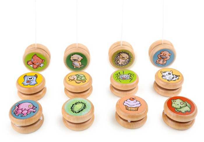 Dřevěné hračky - Dřevěné hry - Jo-Jo ze dřeva - 1ks