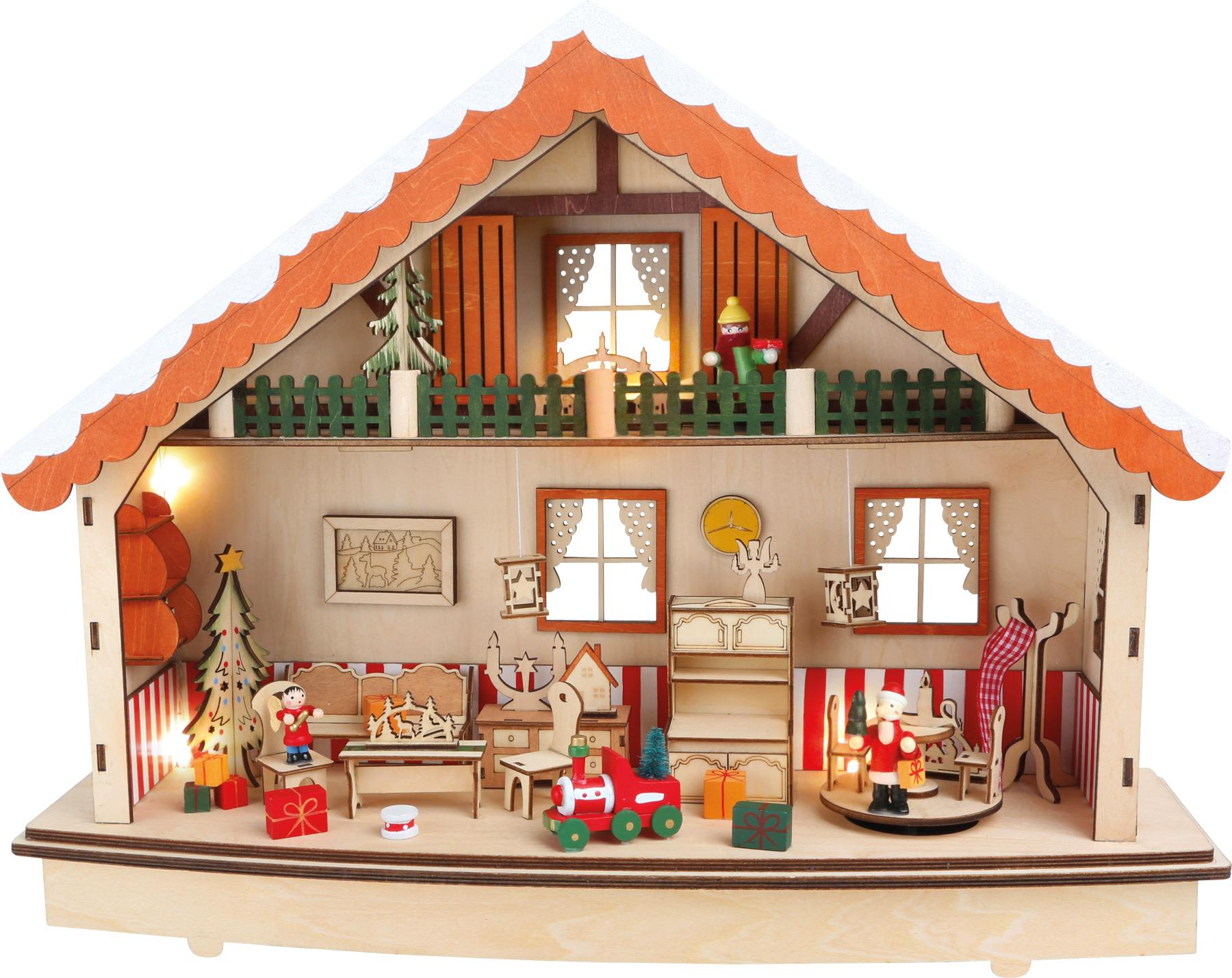 Small Foot Dřevěný dekorační svítící domeček