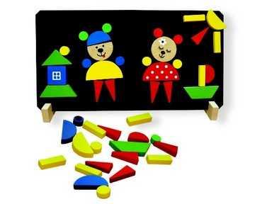Dřevěné hračky - Magnetické puzzle Medvědi
