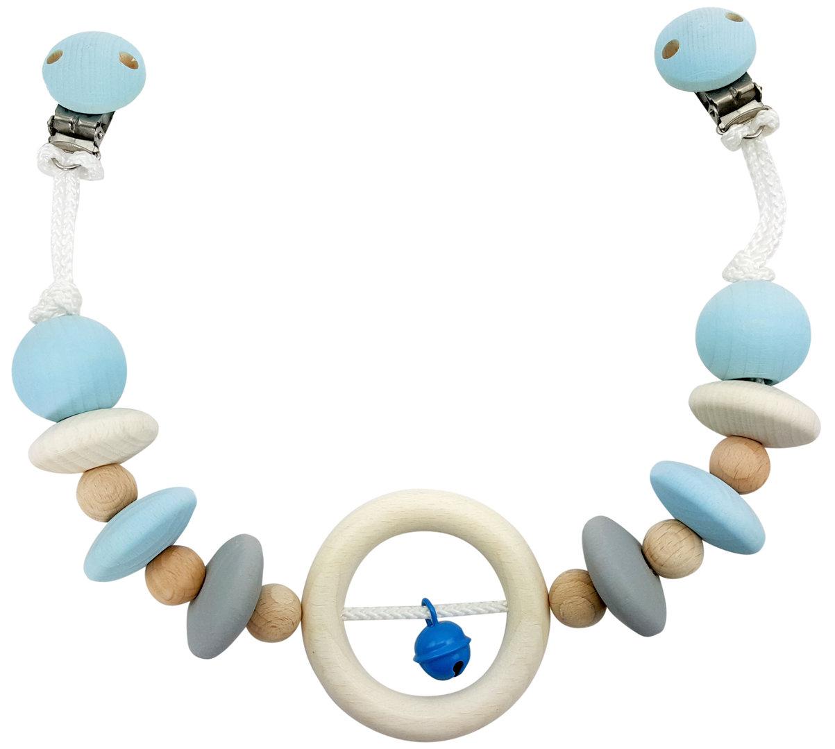 Hess Závěs na kočárek přírodní s modrým zvonečkem