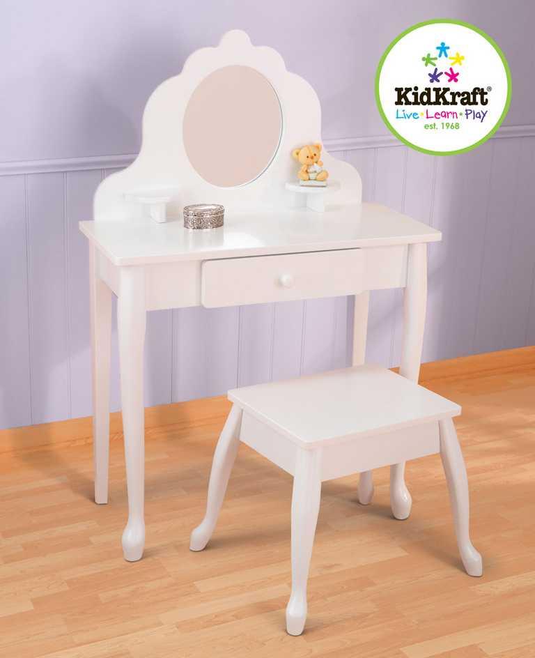 KidKraft Střední kosmetický stoleček s židličkou