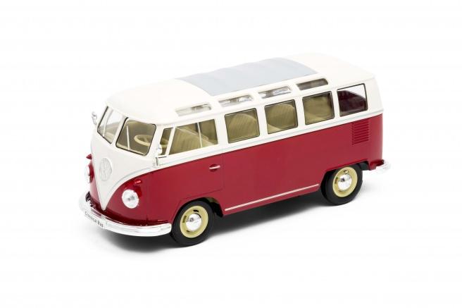 Welly Volkswagen T1 Bus (1963) model 1:24 červený