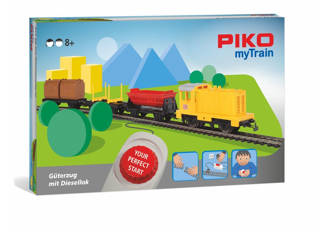 Piko Startovací sada Nákladní vlak s dieselovou lokomotivou - 57090