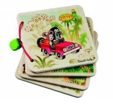Dřevěné hračky - Dřevěná knížka - Krteček