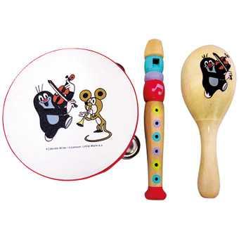 Dřevěné hračky - hudební set Krtek