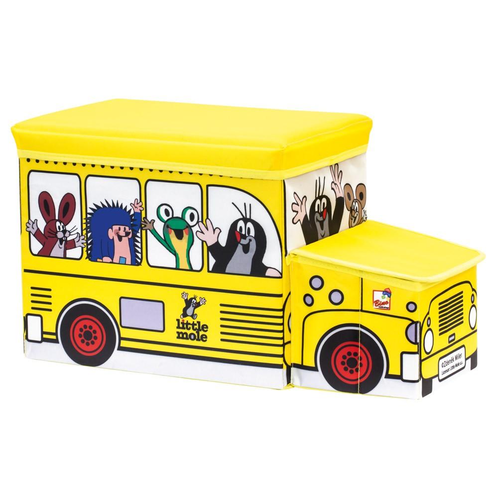 Bino Krtek krabice na hračky bus