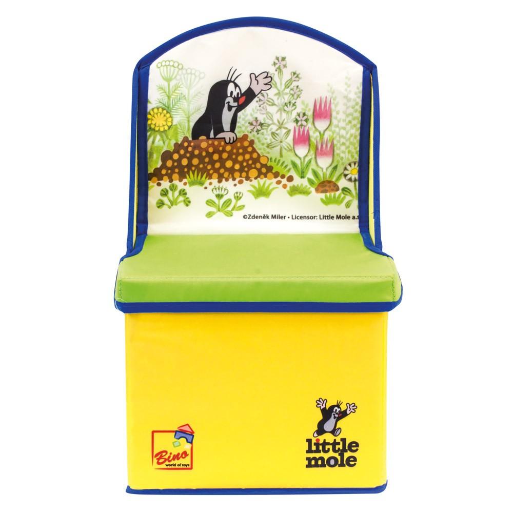Bino Krtek 2v1 box na hračky a židle