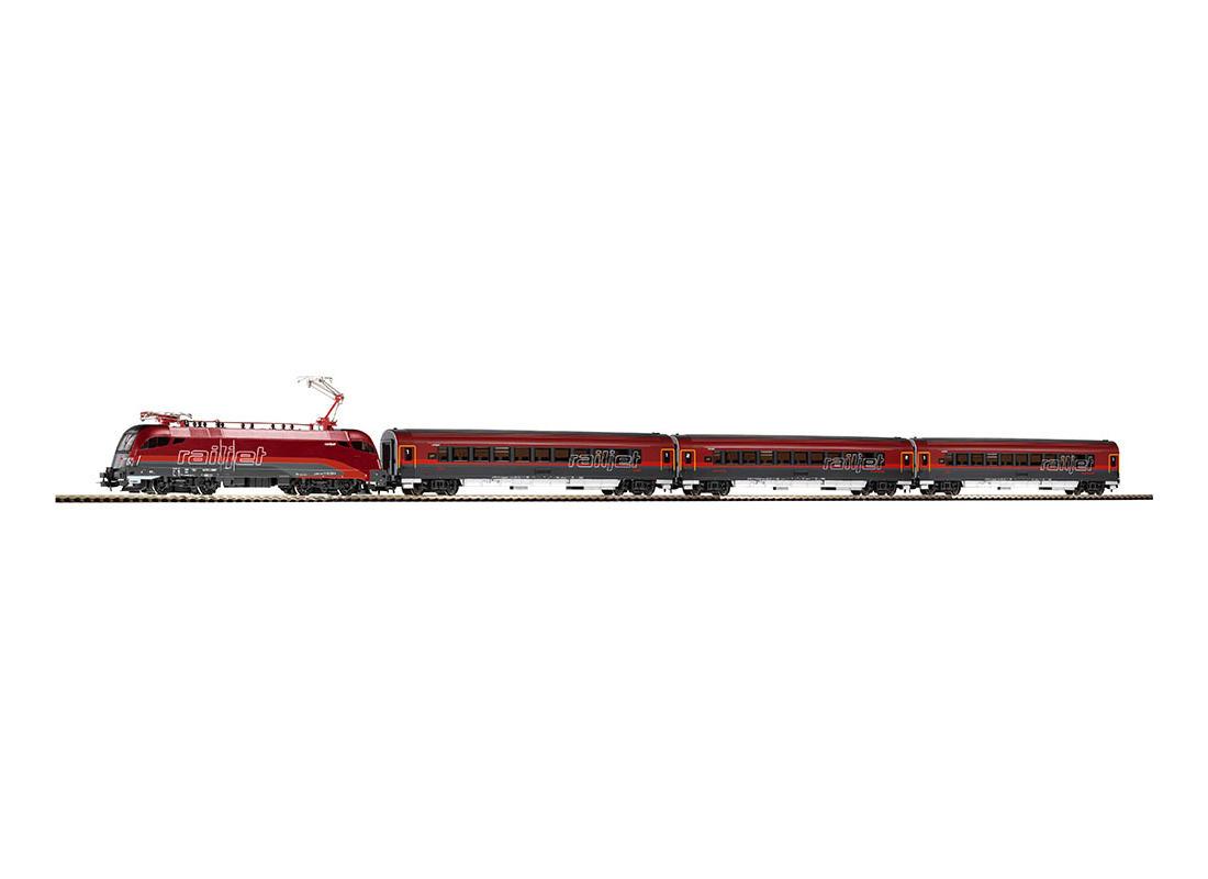 Piko Základní sada Osobní vlak s lokomotivou Rail Jet ÖBB V - 57172