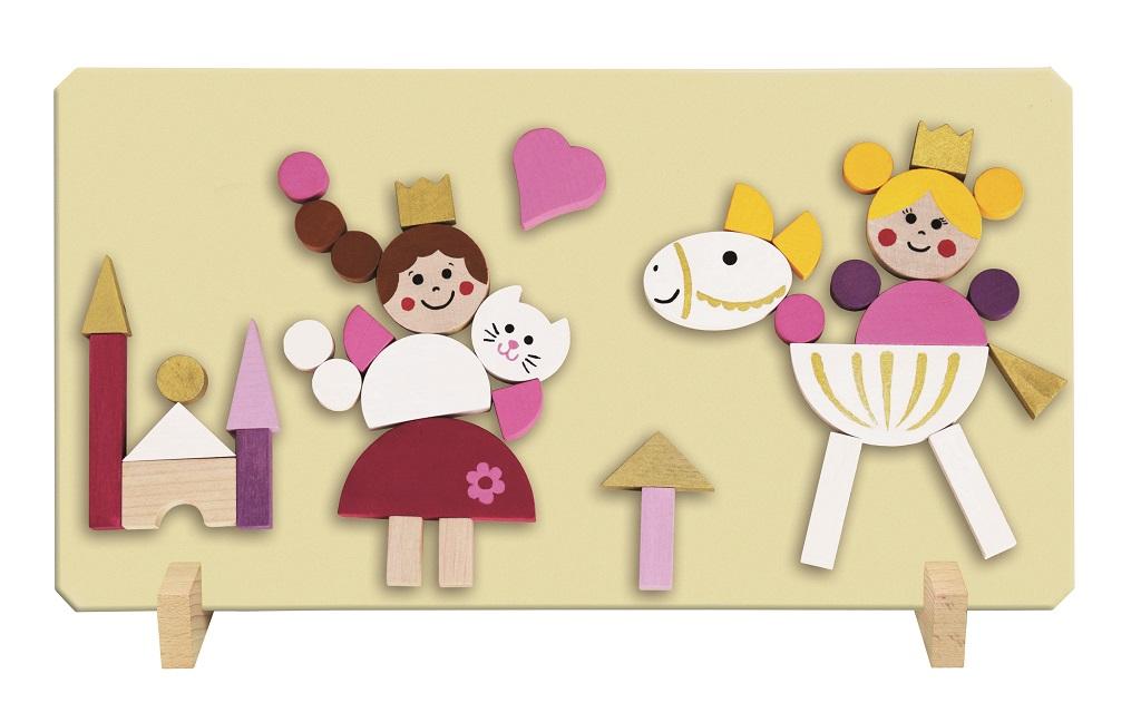 Detoa Magnetické puzzle princezny